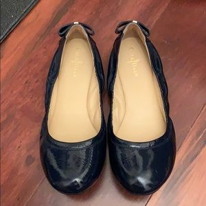 VERY gently worn navy patent Cole Haan flats
